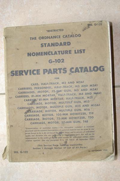 Catalogue pieces detachées half-track