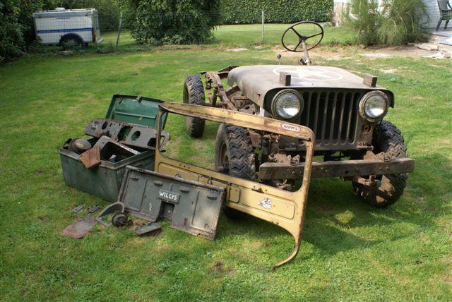 jeep willys a restaurer tracteur routier occasion renault. Black Bedroom Furniture Sets. Home Design Ideas