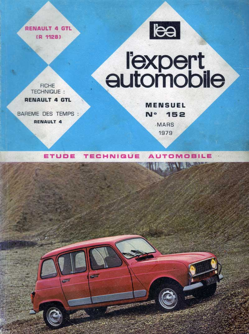 Etude Technique Automobile Renault 4 GTL