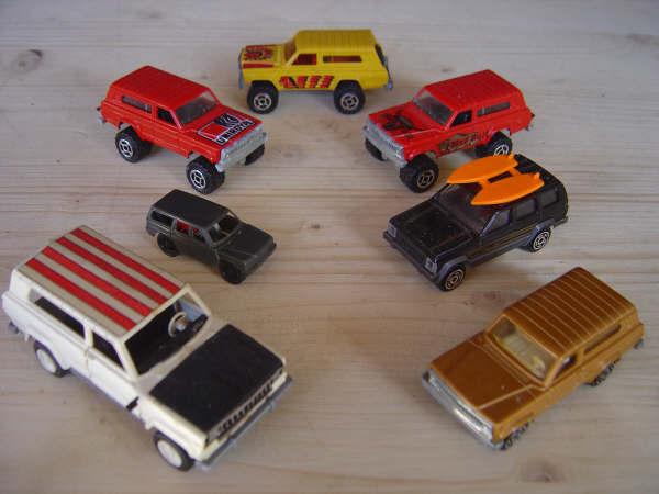 JEEP miniatures MB, CJ et Cherokee
