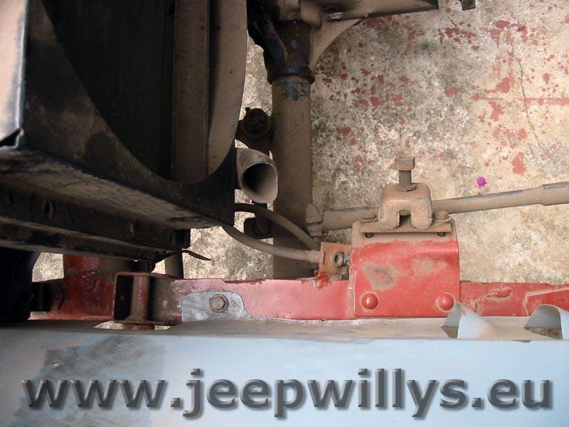 Compartiment moteur, vue du dessus