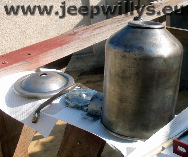 Filtre à huile après ponçage