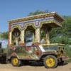 Jeep décorée en Inde