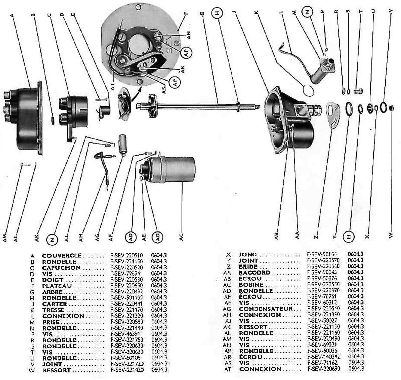 Allumeur bobine SEV 24 Volts
