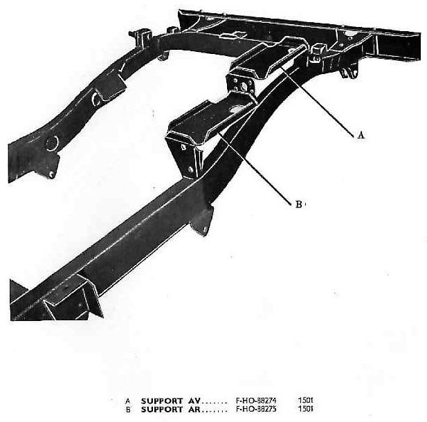 Cadre du chassis (partie modifiée pour équipement 24 volts)