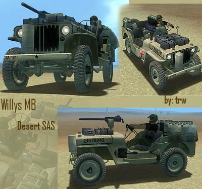Willys MB DESERT SAS