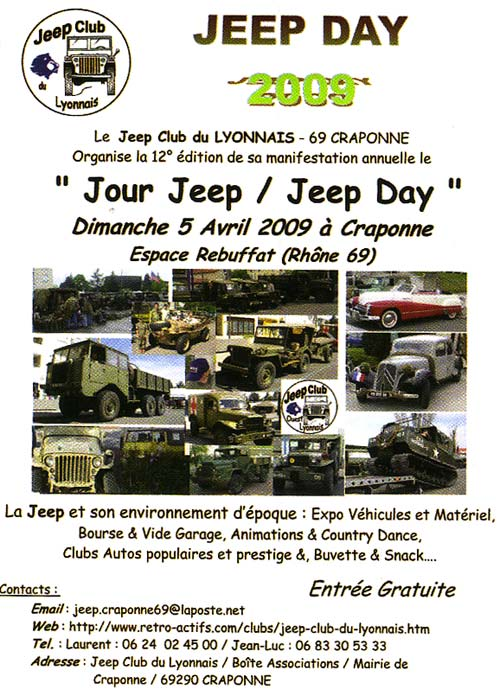 5 avril 2009 : Jeep Day à Craponne (69)