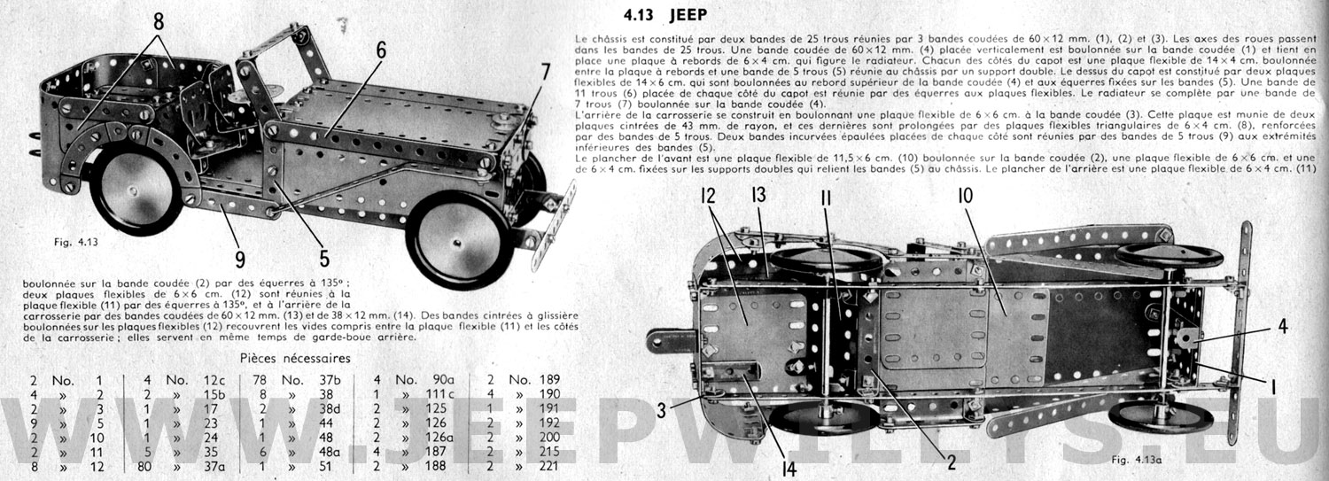 Meccano jeep - Pieces detachees meccano ...