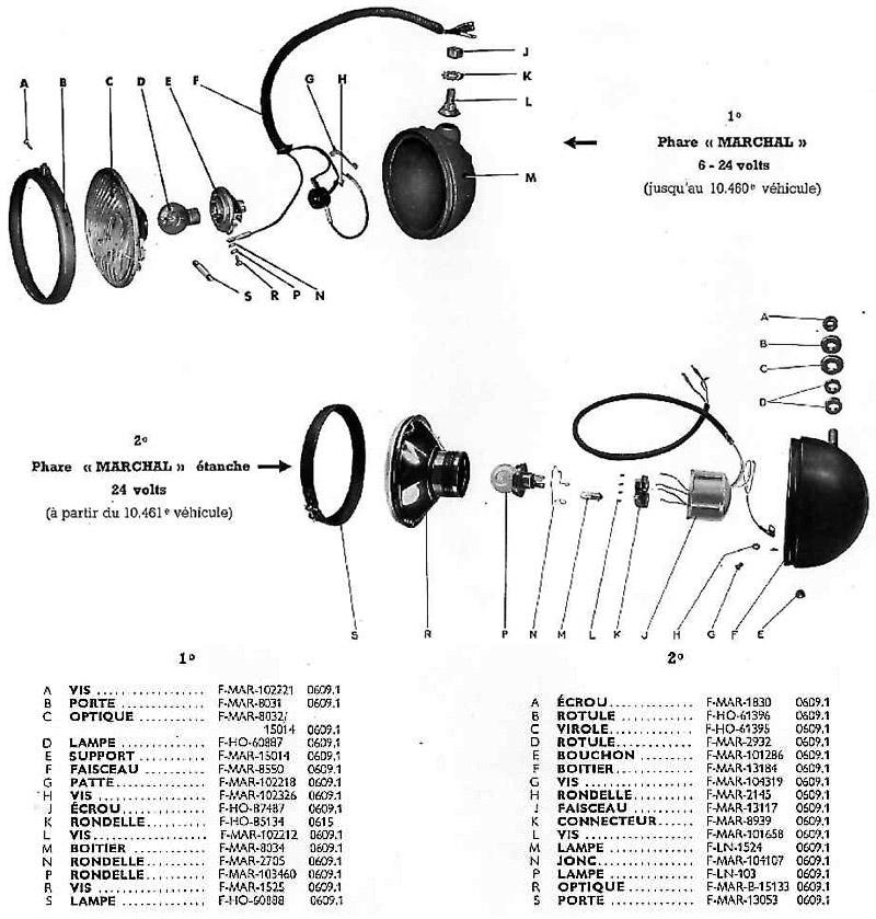 Phares 6 volts - 24 volts (1er montage)